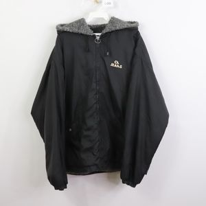 90s Calvin Klein Mens Large Spell Out Jacket Black